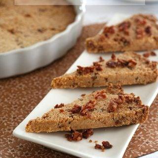 Low Carb Maple Bacon Shortbread