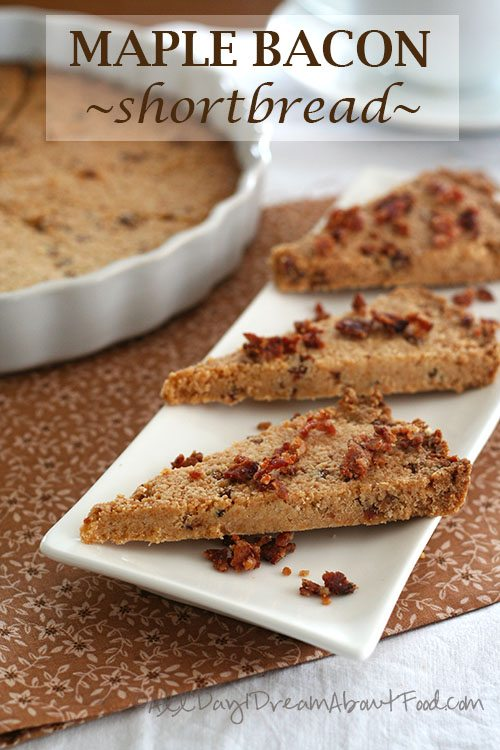 Low Carb Maple Bacon Shortbread