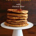 Low Carb Pumpkin Pancakes with Coconut Flour