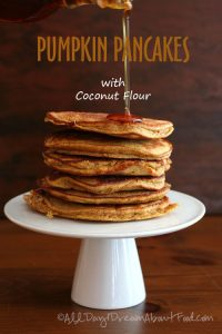 Low Carb Pumpkin Pancakes with Coconut Flour