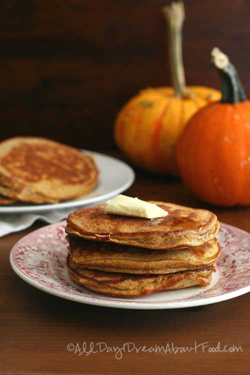 Pumpkin Pancakes with coconut flour and coconut oil dairy-free
