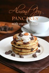 Low Carb Almond Joy Pancakes with Coconut Flour