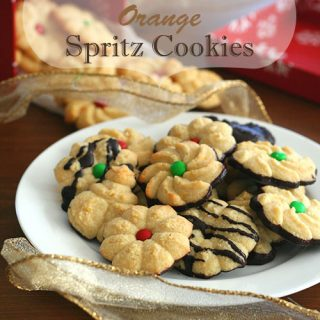 Low Carb Chocolate Orange Spritz Cookies