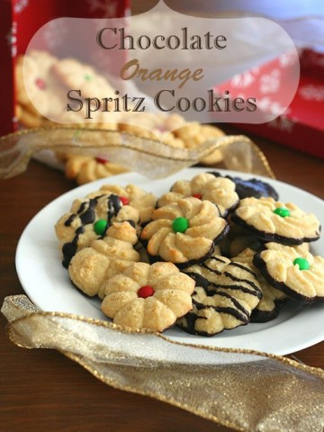 Low Carb Chocolate Orange Spritz Cookies
