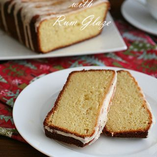 Low Carb Eggnog Bread with Rum Glaze