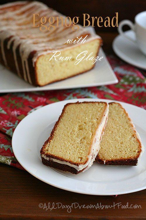 Low Carb Eggnog Bread with Rum Glaze