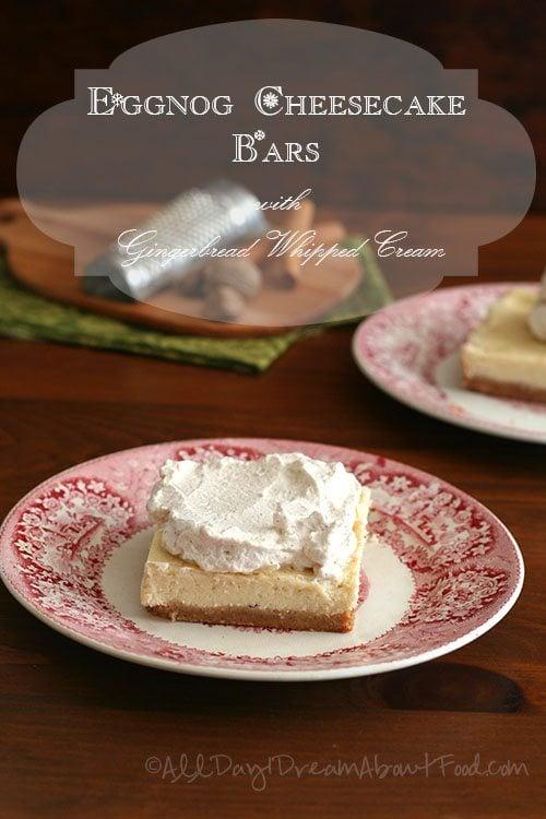 Low Carb Eggnog Cheesecake Bars