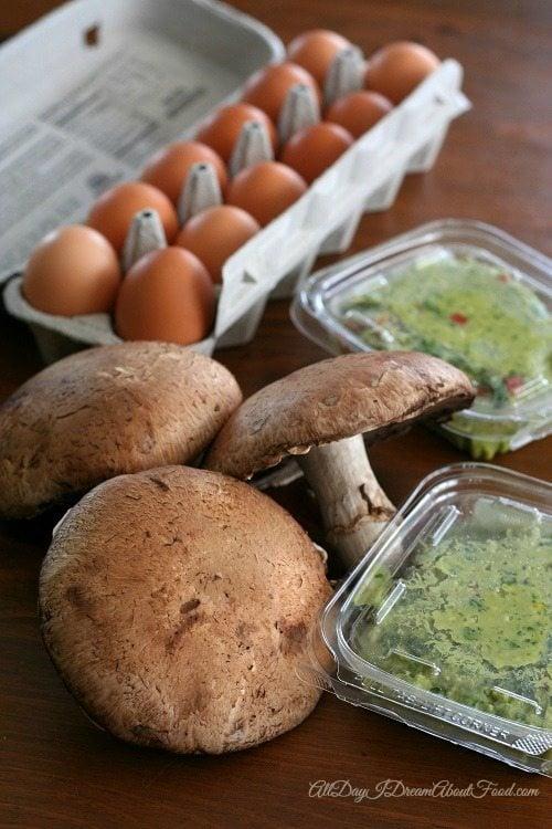 Spinach Arthichoke Quiche in Portobello Mushrooms