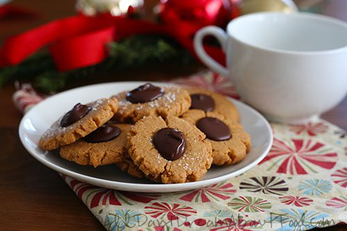 Low Carb Peanut Butter Blossom Cookies