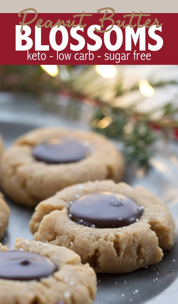 Easy Keto Peanut Butter Blossom Cookies