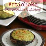 Low Carb Spinach Artichoke Quich in Portabella Mushroom caps