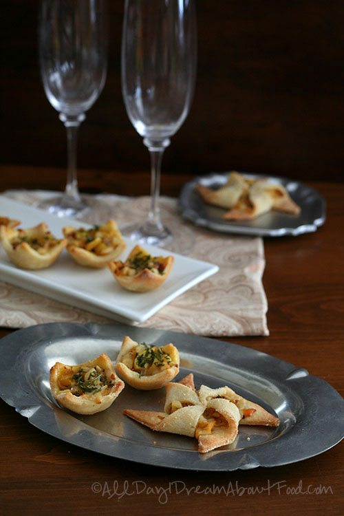 Low Carb Savory Tarts with Apples and Caramelized Onions