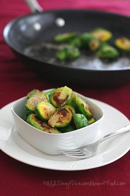 Low Carb Caramelized Brussels Sprouts with Browned Butter