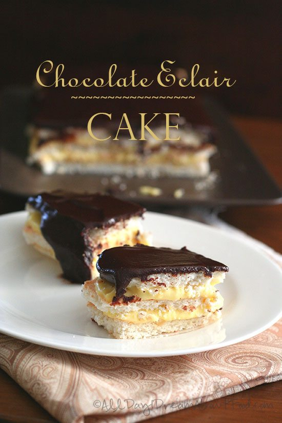 Images Of Chocolate Eclair Cake : Low Carb Chocolate Eclair Cake Recipe All Day I Dream ...