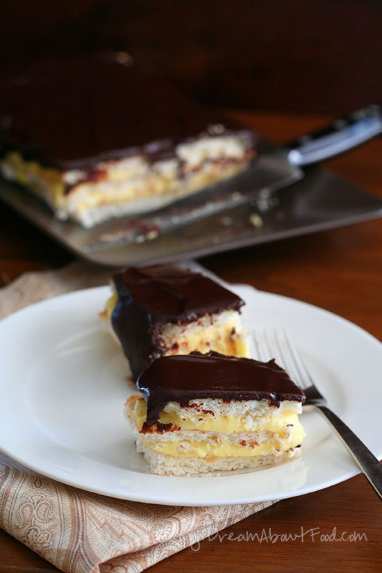 Low Carb Chocolate Eclair Cake Slices