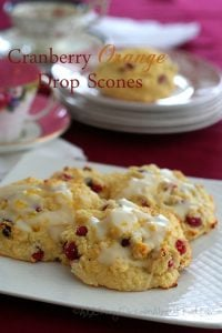 Low Carb Cranberry Orange Scones