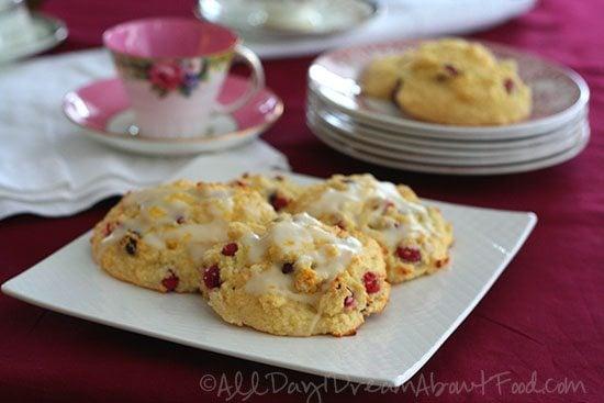 Cranberry Orange Scones made with Coconut Flour