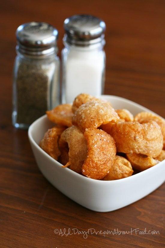 Paleo snack homemade chicharrones