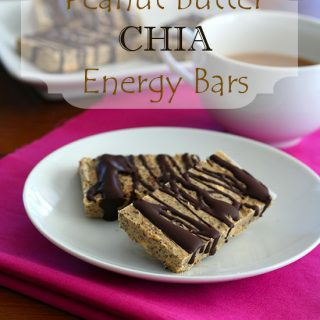 Peanut Butter Chia Seed Energy Bars – Low Carb and Gluten-Free