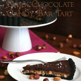 Salted Dark Chocolate Candy Bar Tart and Winter on Nantucket