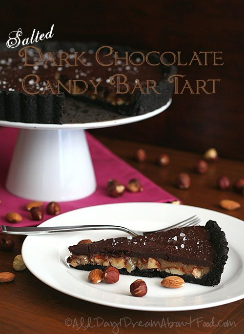 Salted Dark Chocolate Candy Bar Tart PS