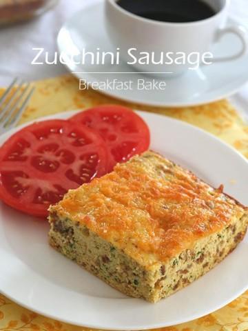 Low Carb Zucchini Sausage Breakfast Bake