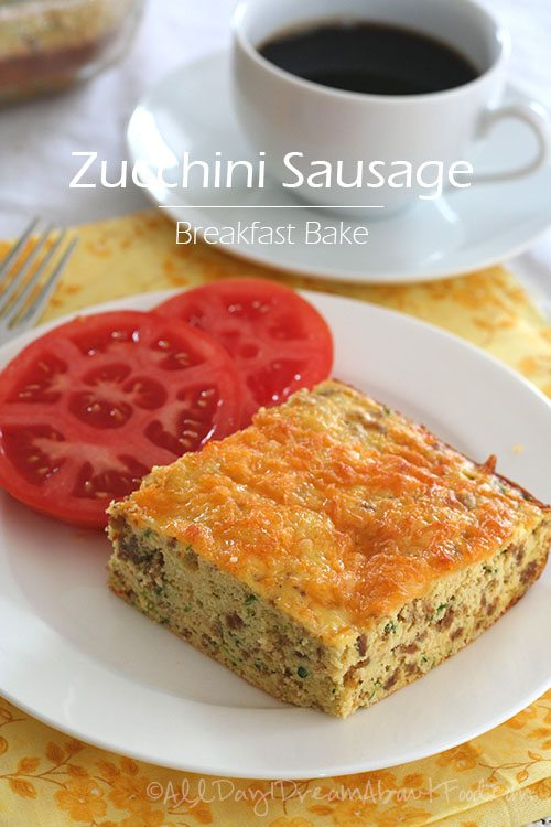 Low Carb Zucchini Sausage Breakfast Bake