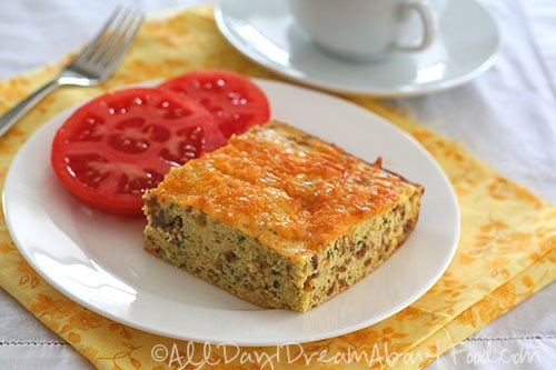 Low Carb Zucchini Sausage Egg Casserole