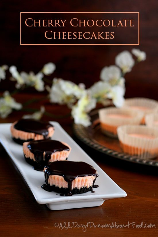 Low Carb Chocolate Cherry Cheesecakes
