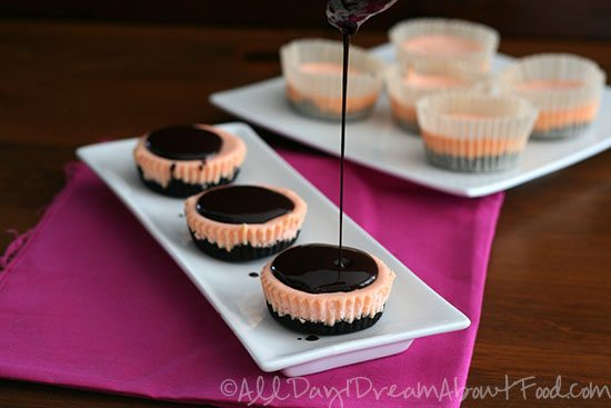 Mini Cherry Chocolate Cheesecake Recipe