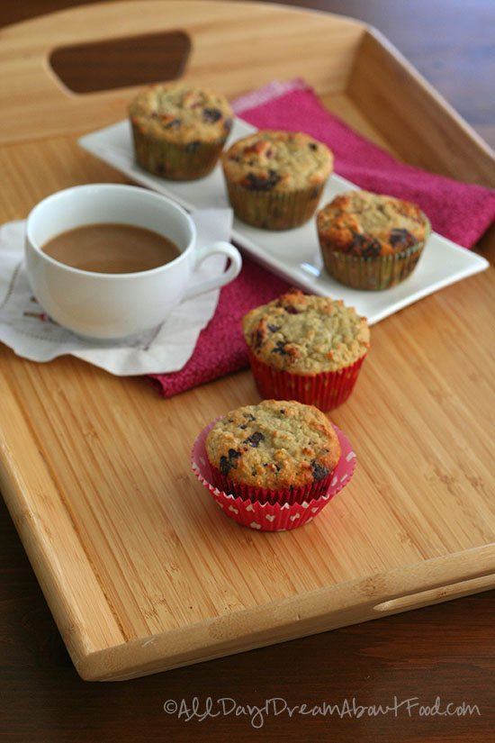 Low Carb Coconut Raspberry Chocolate Chip Muffins