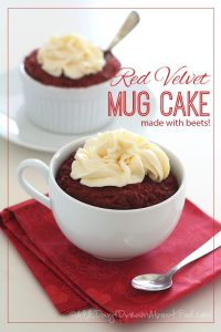 Low Carb Red Velvet Mug Cake