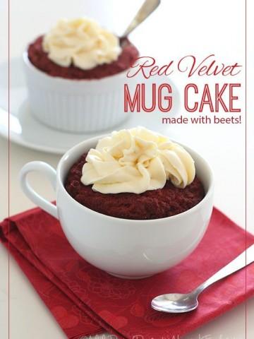 Low Carb Red Velvet Mug Cake