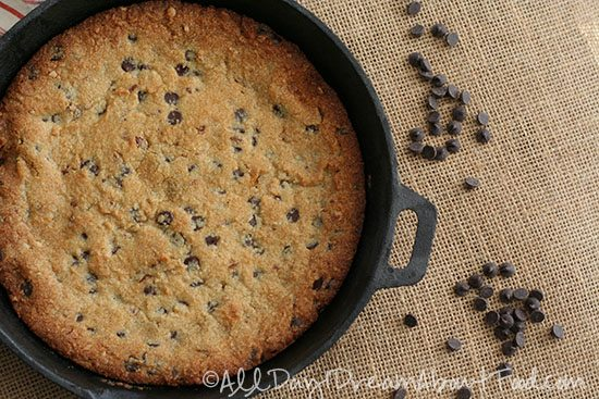 Low Carb Gluten-Free Skillet Chocolate Chip Cookie Recipe