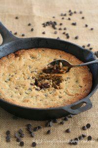 Paleo Friendly Skillet Chocolate Chip Cookie Recipe