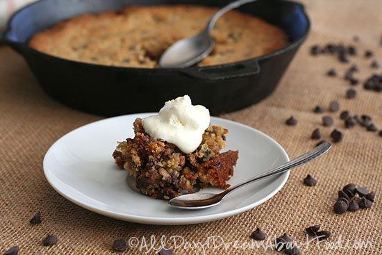 Skillet Chocolate Chip Cookies – Low Carb and Gluten-Free