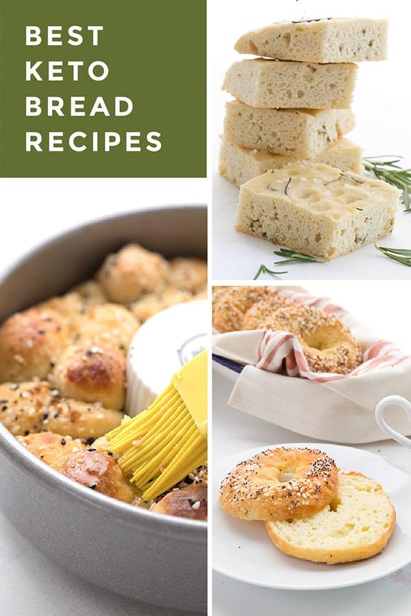 Collage for keto bread