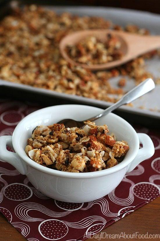 Low Carb Paleo Coconut Cacao Nib Granola Recipe | All Day I Dream ...