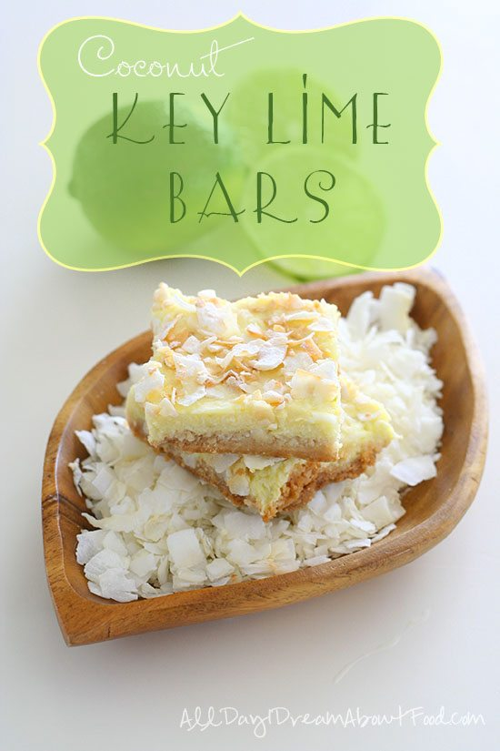 Low Carb Key Lime Coconut Bars
