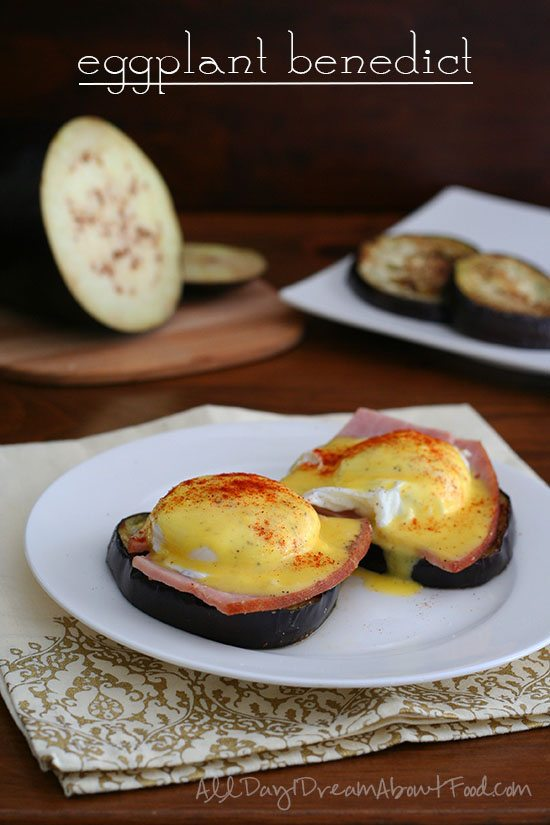 Low Carb Eggs Benedict with Eggplant