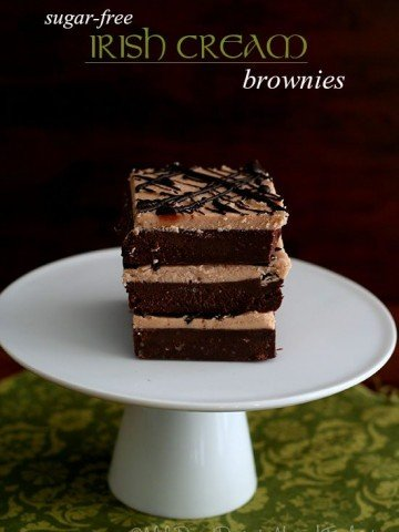 Low Carb Sugar Free Irish Cream Brownies