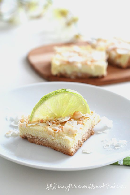 Dairy Free Low Carb Key Lime Bars