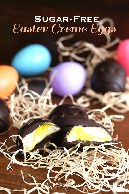 Low Carb Sugar-Free Easter Creme Eggs