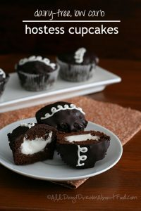 low carb dairy free Hostess Cupcakes