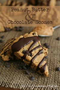 Low Carb Peanut Butter Chocolate Scones