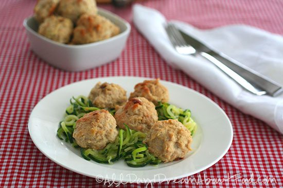 Low Carb Roasted Garlic Chicken Meatball Recipe