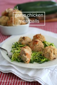 Low Carb Roasted Garlic Chicken Meatballs