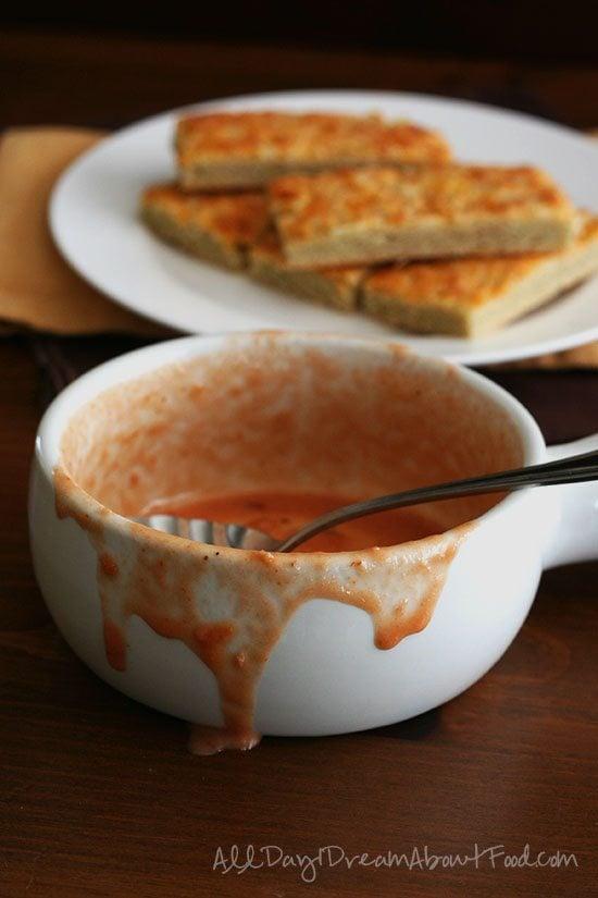 Spicy Tomato Barramundi Bisque Low Carb Flatbread