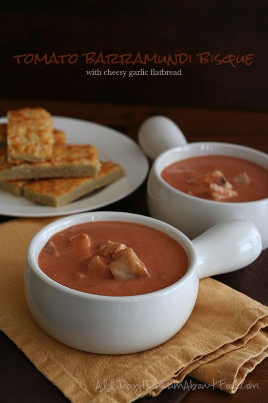 Spicy Tomato Bisque Low Carb Cheesy Garlic Bread