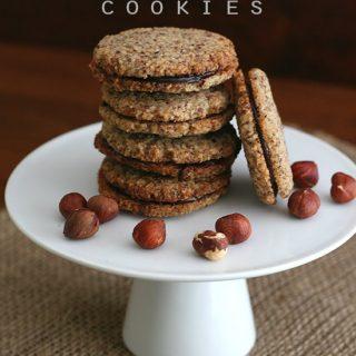 Low Carb Chocolate Hazelnut Sandwich Cookies